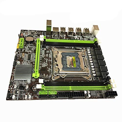 Difcuy X79 Motherboard, 8 USB LGA2011 CPU DDR3 64GB SATA 3.0 LGA 2011 PCI Express 16X M-ATX Mainboard for E5 2630 2650 2660v2 Replacment Control Board