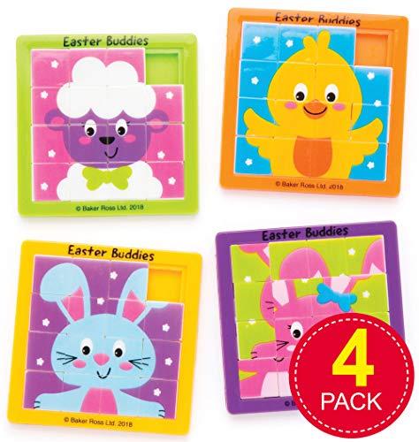 Baker Ross Osterfreunde Schiebepuzzles (4 Stück) – Ostergeschenk oder kleine Party-Überraschung für Kinder