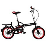 HIKING BK Portable Carbike Permanent Folding Bike Bicycle Adult Students Ultra-Light Portable Women's 20-inch City Riding with Basket