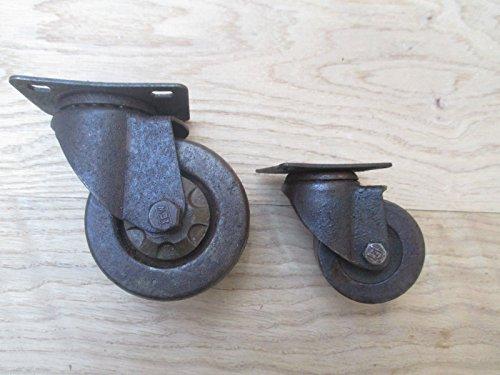 Rueda giratoria de hierro fundido de Ironmongery World®, para mobiliario industrial, diseño antiguo y rústico, 3' LARGE