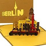 """Pop Up Karte """"Berlin Skyline & City Life"""" - 3D Panorama Berlinkarte als Souvenirs, Geschenk, Reisegutschein, Dekoration & Geschenkverpackung zum Städtetrip nach Berlin"""
