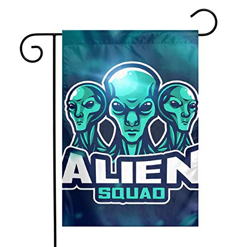 Alien Fabric Bunting Banner Vintage Bunting Flags Reusable Cotton Garland Pennants for Garden Wedding Baby Shower Birthday Party Decoration 12 * 18 Inch
