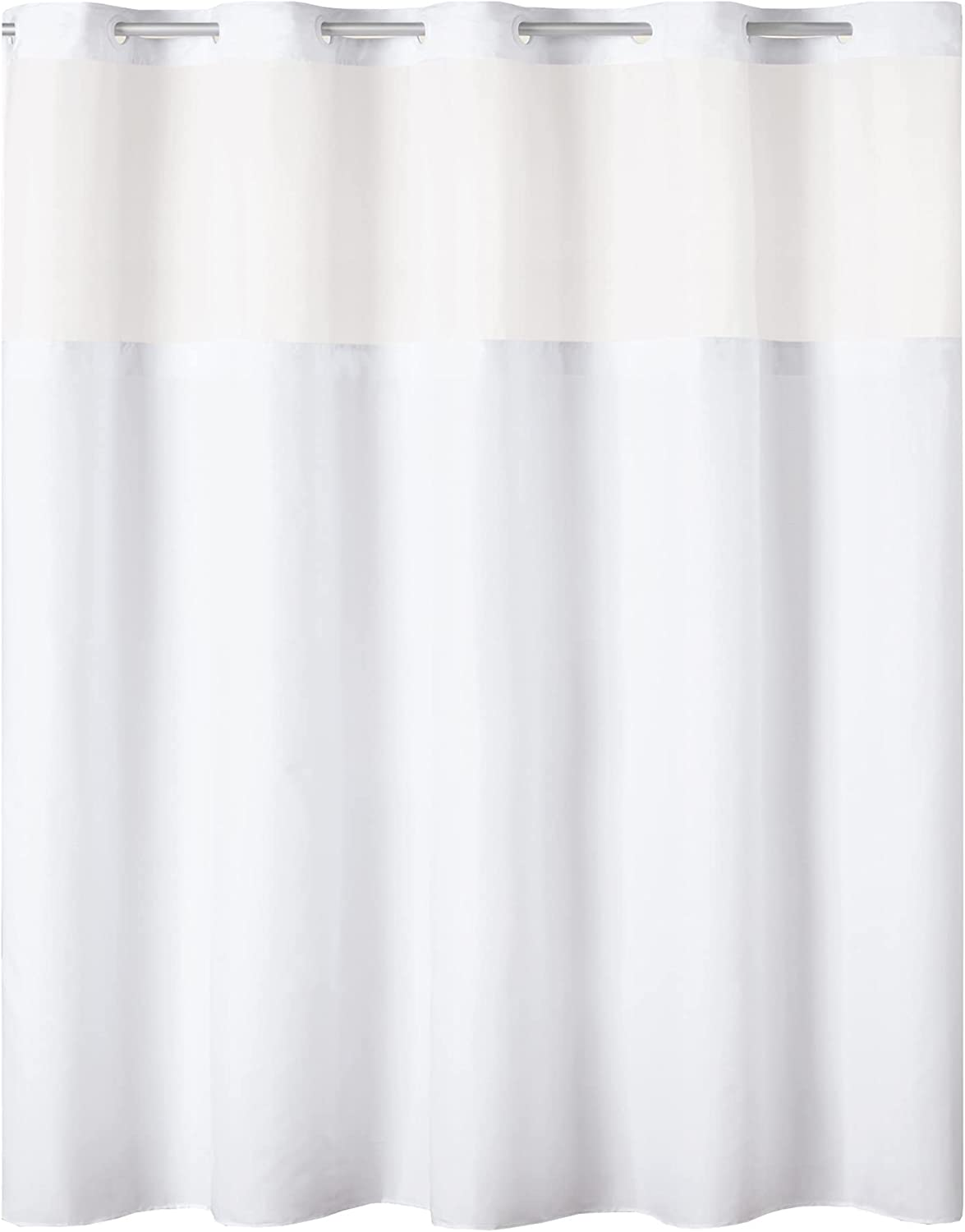 Hookless Antigo Shower Curtain with Fabric 71 Luxury goods 74 X White Liner Cheap mail order shopping