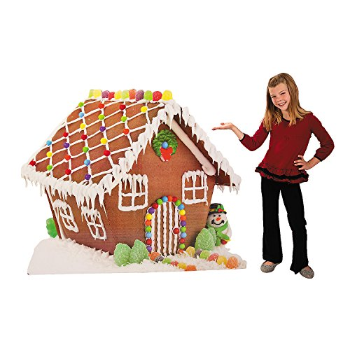 Gingerbread House Cardboard Stand up for Christmas (5 feet x 4 feet)