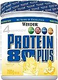WEIDER Protein 80 Plus Eiweißpulver, Vanille, Low-Carb, Mehrkomponenten Casein Whey Mix für...
