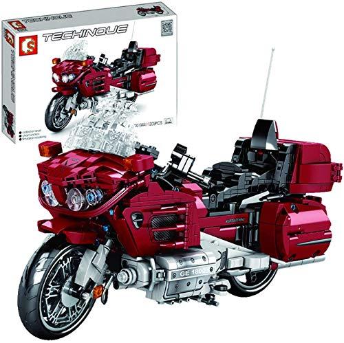 Set de Construcción Honda Golden Wing, juguetes de bloques de construcción modelo de motocicleta, 1205 partículas, juguetes educativos para niños mayores de 6 años