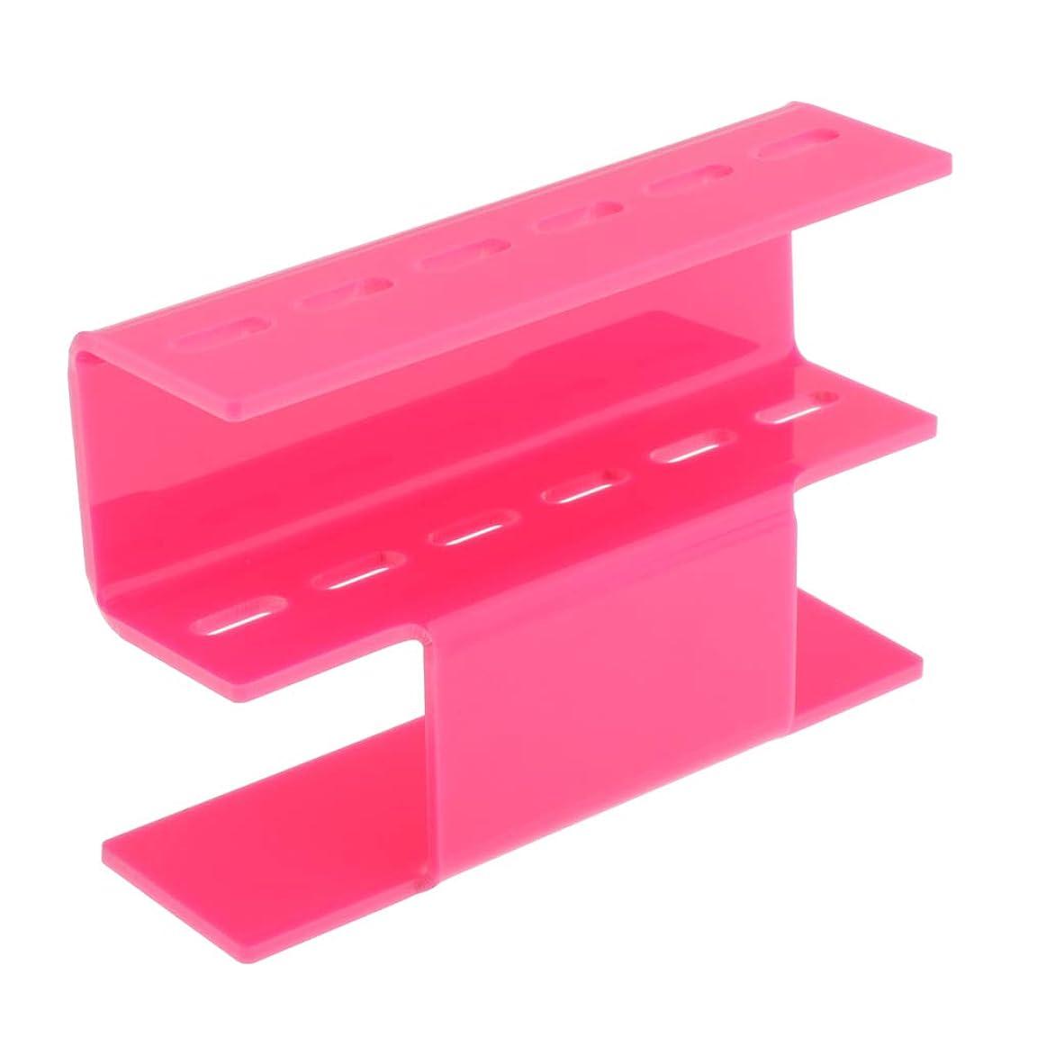 爆弾貧困読むT TOOYFUL ピンセットホルダー ピンセットスタンド オーガナイザー 収納ラック プロ用 家庭用 紛失防ぐ 全3色 - ピンク