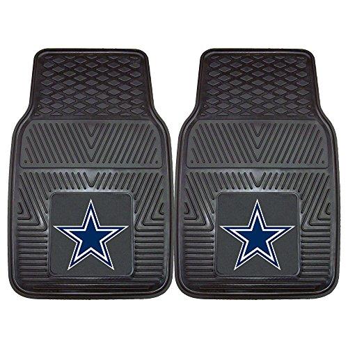 "FANMATS - 8274 NFL Dallas Cowboys Vinyl Heavy Duty Car Mat,Set of two, 18""x27"""