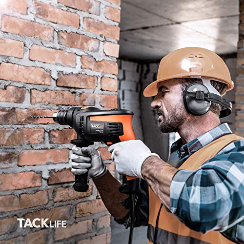 Hammer Drill, TACKLIFE Corded Drill 1/2 Inch, 2800RPM, 44800BPM Dual Drill Mode, Variable Speed Trigger, 360° Rotatable Handle, Speed Setting Knob for Wood, Steel, Masonry-PID01A