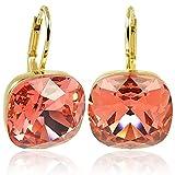 Ohrringe Orange mit Kristallen von Swarovski® Gold Rot Koralle NOBEL SCHMUCK