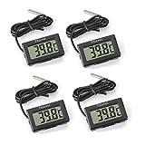 Thlevel Mini Digital LCD Thermomètre Hygromètre Température Humidité -50~70 ℃ 10% ~ 99% RH (6 PCS - A) (4X Noir)