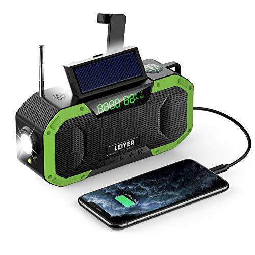 Wireless Speaker Emergency Radio, Portable Hand Crank Radio, 5000mAh...