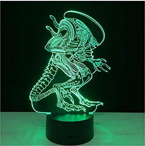Alien Vs Predator 3D Lighting Mood Lamp 7 colores que cambian lamparas con cable USB