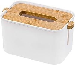 TOPBATHY Tissue Box Holder Facial Tissue Dispenser Box Desktop Napkin Container for Countertop Bathroom Kitchen Car White