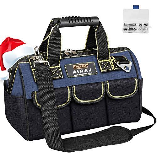 AIRAJ 36 * 20 * 26CM Zoll Werkzeugtasche, wasserdichte Werkzeugtasche mit verstellbarem Schultergurt, Elektrowerkzeugtasche mit ergonomischem Griff, Aufbewahrung von Elektro- und Handwerkzeugen-36cm