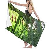 Yuanmeiju 32 X 52 Inch High Absorbency Bath Towel Cool Softball Green Lightweight Large Bath Sheet for Beach Home SPA Pool Gym Travel