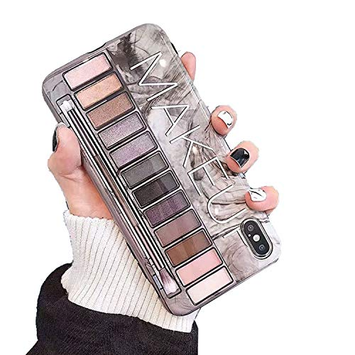 TEGUJ Makeup Eyeshadow Palette Girl Phone Case Soft Silicone 11 Pro X XR XS Max For iPhone 7 8 Plus Naked Glossy Cover-Makeup-For iPhone Xsmax