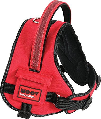 Zolux Moov Harnais Confort Réglable Réflectif pour Chien Coloris Rouge Tour de Cou de 57 à 70 cm/Tour de Poitrine de 76 à 96 cm Taille XL