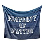 Property of Matteo Blanket (Plush Fleece)