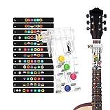 Sistema de Aprendizaje de Guitarra, Clásico Chord Buddy y 100% Vinilo Colores Guitarra Afilar Imágenes Principiantes, Ayuda a la Enseñanza, Herramienta de Aprendizaje Para Principiantes