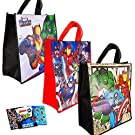 Avengers Marvel Tote Bags Value Pack -- 3 Reusable Tote Party Bags (Featuring Captain America, Iron Man, and Spiderman)