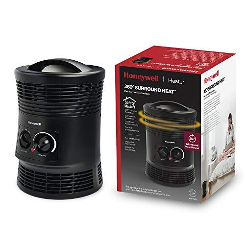 Honeywell 360° Surround Heat (calefactor envolvente, dos ajustes calor, termostato regulable, protección antivuelcoy sobrecalentamiento) HHF360E
