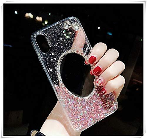 heng yuan tian cheng Apple mobiele telefoon shell voor vrouwen, met spiegels, modieuze diamant luxe shell, all-in-one anti-fall, roze sprankelende poeder persoonlijkheid creatieve beschermende cover, telefoon6Plus