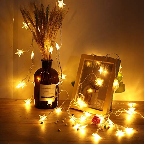 Minglin Star String Lights, 6m/ 19. 7ft 40 String Light USB Color- Changing Fairy String Lights for Indoor and Outdoor Decoration Lighting, Christmas Tree Décor, Party Wedding Celebration