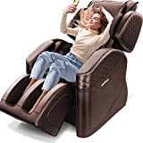 2021 New Massage Chair, Zero Gravity Full Body Massage Chair Deckchair, Airbag Finger Back Heating, Hip Vibration, Home/Office Foot Roller, 3 Year Warranty(Brown)