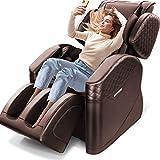 2021 New Massage Chair, Zero Gravity Full Body Massage Chair Deckchair, Airbag Finger Back Heating, Hip Vibration, Home/Office Foot Roller, 3 Year Warranty(Brown)