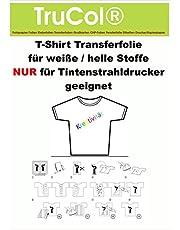 10 hojas de A4 camiseta Transferencia Láminas para impresoras de inyección de tinta (inkjet). Un papel especial de transferencia para la impresión en blanco o de color claro camisetas, gorras, sudaderas, bolsas de algodón, sábanas, banderas, ......