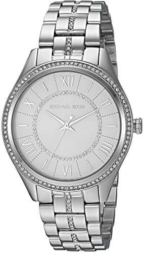 Michael Kors Women's Lauryn Quartz Watch with Stainless-Steel Strap, Silver, 18 (Model: MK3718)