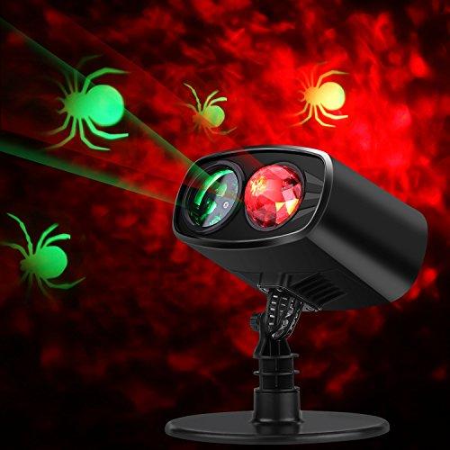 Proyector de Luces de Navidad, decoración Exterior lámpara de proyección, Doble LED rotación de proyector, Luces dinámicas iluminación LED luz para Navidad, Halloween, cumpleaños, Pascua