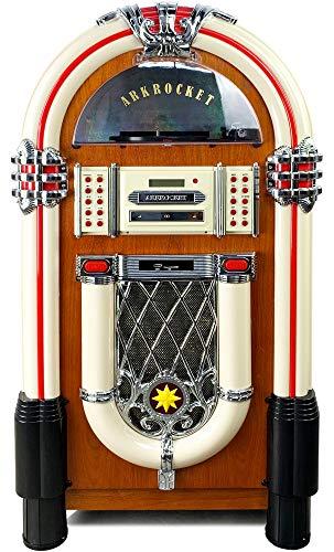Arkrocket Taurus Jukebox Vinyl Record Player Bluetooth USB SD CD Player Radio Retro Turntable Classic Jukebox 42 inch