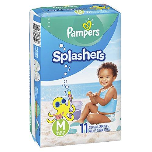 Pampers Splashers Swim Diapers Disposable Swim Pants, Medium (20-33 lb), 11 Count