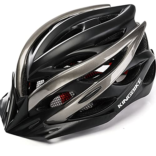 Kingbike Bike Helmet Men Women Bicycle Adult Cycling Specialized Road Mountain MTB Helmets for Mens Womens Adults Casco para Bicicleta with Safety Light Portable Bag Accessories