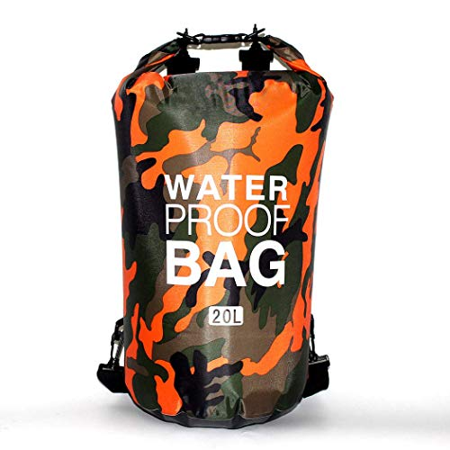 ,HANDY, Waterproof Dry Bag Backpack 2L 5L 10L 20L 30L Storage Bag for Boating/Camping/Floating/Outdoor/Backpacking/Fishing/Rafting/Swimming/Snowboarding (Orange, 10L)