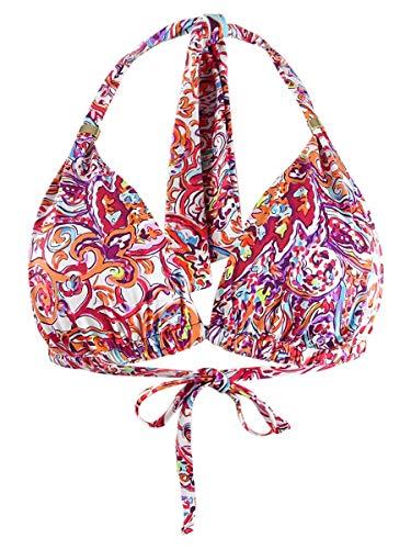 LAUREN RALPH LAUREN Bikini Top Mystic Paisley Mold Cup Multicolor 6