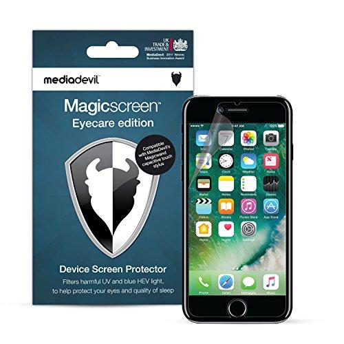 MediaDevil Pellicola Protettiva per iPhone SE (2020), iPhone 8 e iPhone 7 - Eyecare Filtro Luce Blu, UV e HEV (2-Pezzi)