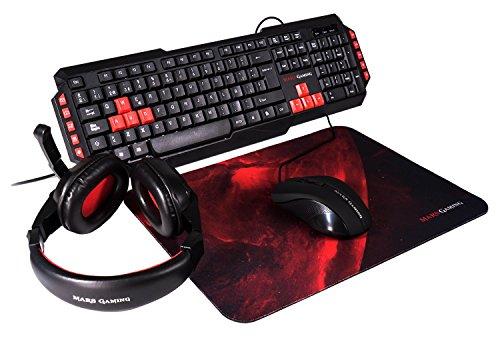 Mars Gaming MRCP1 24316 Set Tastiera e Mouse, Nero [Layout Italiano]