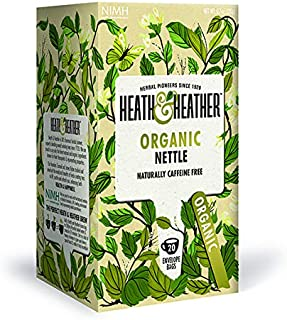 Heath & Heather Té Ortiga Orgánica, 20g, caja de 20 sobres
