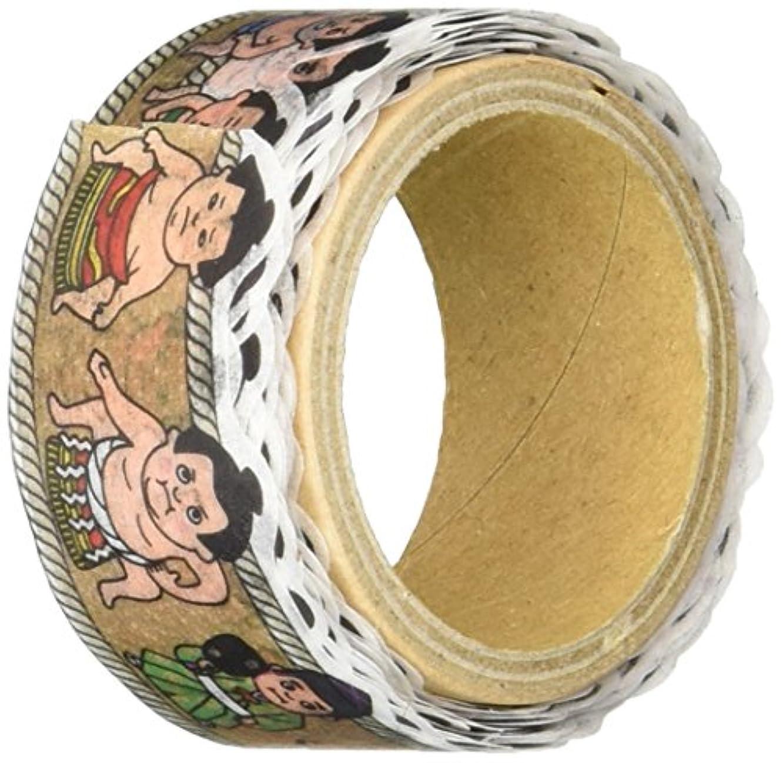 Roundtop Designer's Washi Masking Tape 20mm x 5m, Tips Character Series 3, Sumo (RT-MK-014)