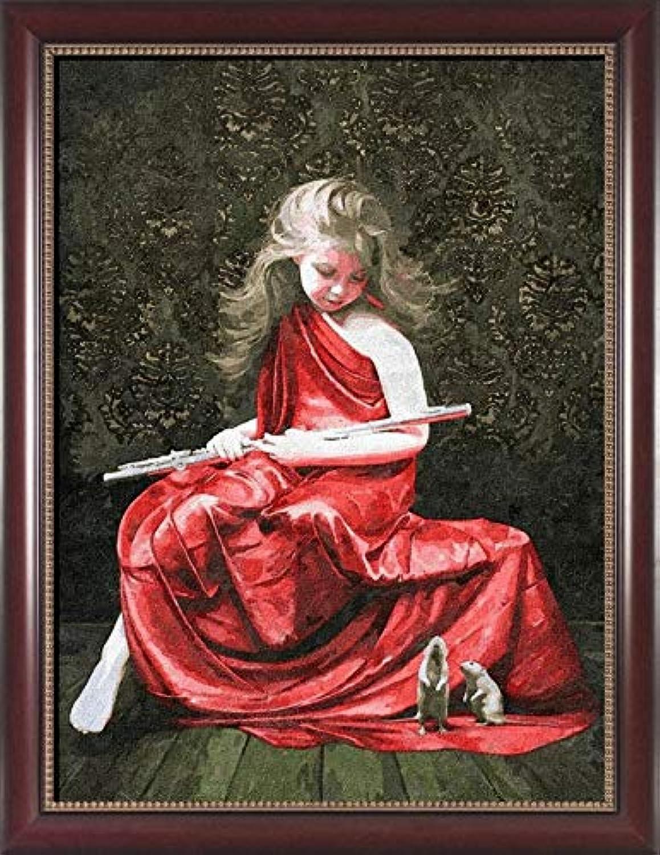 Agolong Malen nach nach nach Zahlen färbung by Zahlen für wohnkultur Bild ölgemälde leinwand gemälde rotes Kleid mädchen Mit Rahmen 40x50cm B07NPQPWKW | Online  42e58b