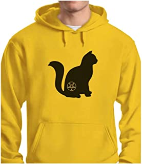 Tstars - Halloween Cat Pentagram Cat Lover Gift Hoodie