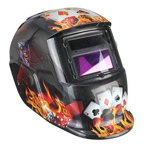 Casco de soldadura, Patrón del payaso Máscara de oscurecimiento automático casco de soldadura Tig Mig Arco de molienda soldadores,gafas protectoras