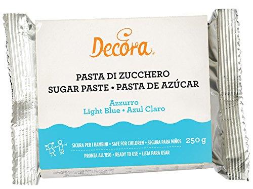 Decora - Pasta Di Zucchero, Azzurro, 250 Grammi