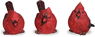 BANBERRY DESIGNS Cardinal Figurine Birds Decoration - Set of 3 Styles - 4 Inch High