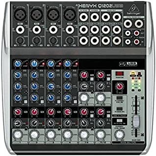 BEHRINGER, 12 Mixer - Powered, Black (Q1202USB)