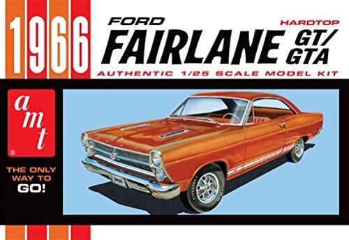 Round2 AMT1091/12 1/25 1966er Ford Fairlane GT Plastikmodellbausatz, Modelleisenbahnzubehör, Hobby, Modellbau, Mehrfarbig