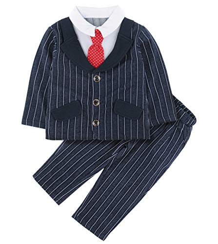 Velvet Tuxedo Jeu Costume Avec Coat Manteau Baptême Smoking Costume Bébé Garçons 2tlg